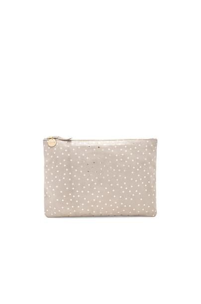Clare V. clutch metallic gold bag