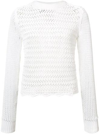 top crochet top long women white cotton crochet