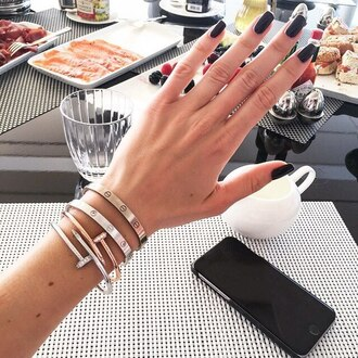 nail polish nails accessories bracelets jewels jewelry stacked bracelets