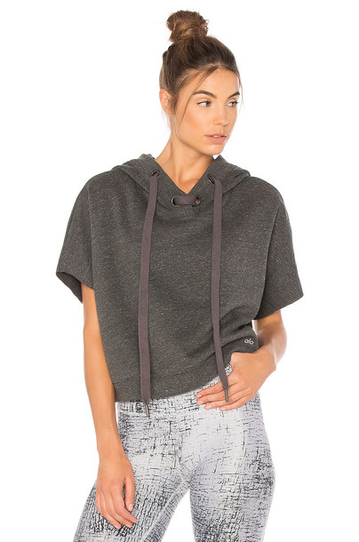 ALO hoodie charcoal sweater