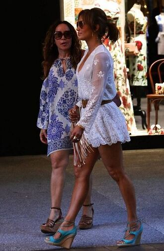 romper lace lace romper jennifer lopez sandals wedges summer outfits shoes