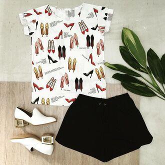 t-shirt yeah bunny high heels tee girly heels cute girl power