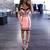 Colorblock Bandage Dress Pink Black