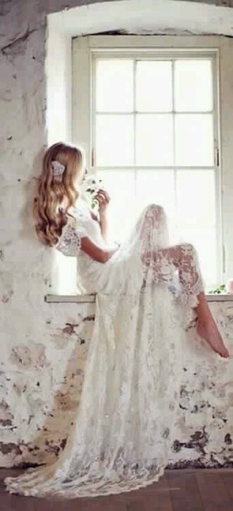 dress lace dress wedding dress