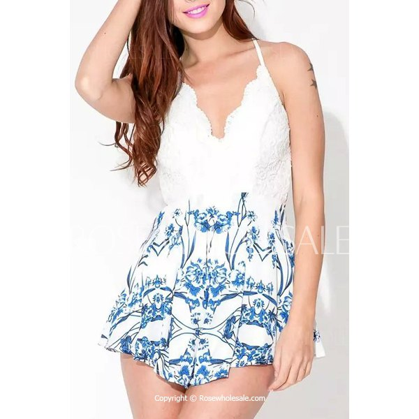Women's asymmetric sexy lace stitching one shoulder sleeve dress