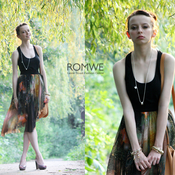 ROMWE | Mysterious Universe Asymmetric Skirt, The Latest Street Fashion
