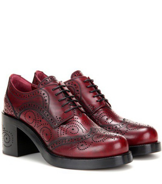 Miu Miu pumps leather red shoes