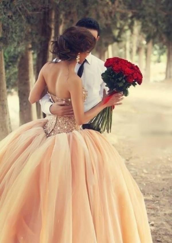 dress prom dress brown dress beautiful