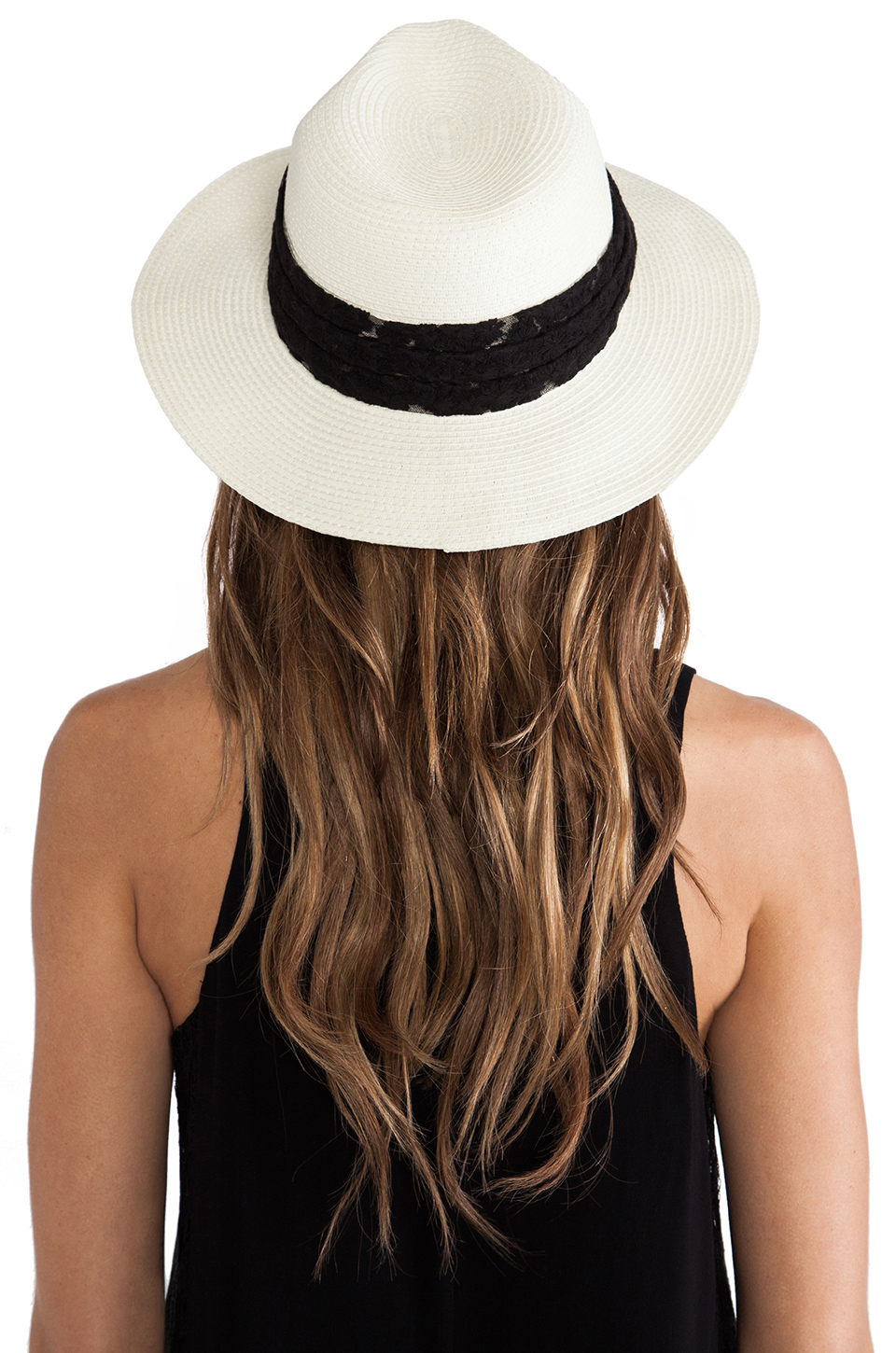 Genie by Eugenia Kim Wide-Brimmed Fedora in Ivory from REVOLVEclothing.com