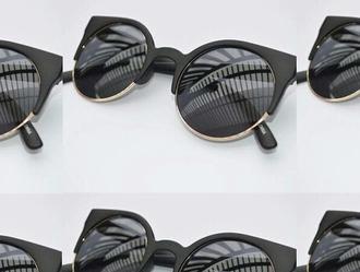 sunglasses sunglass super cool black matt round kinda round