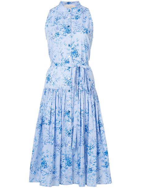 Carolina Herrera dress floral dress women floral cotton blue