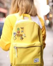 bag,herschel supply co.,backpack,yellow,back to school,school bag