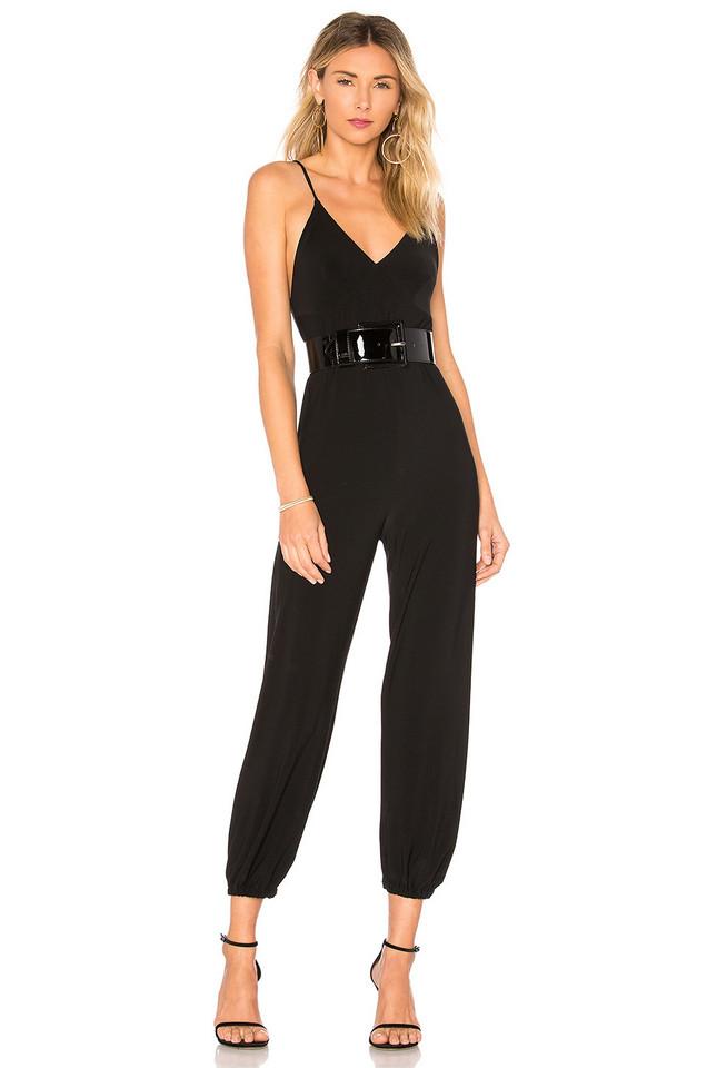 Norma Kamali Slip Jog Jumpsuit in black