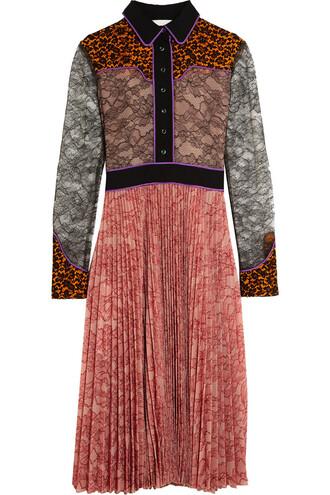 dress lace pink
