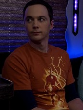 t-shirt,orange,flash,big bang theory,sheldon cooper,jim parsons
