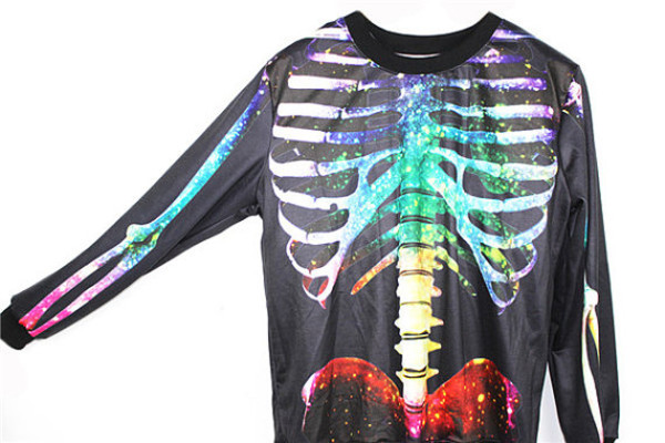 skeleton colorful halloween sweater