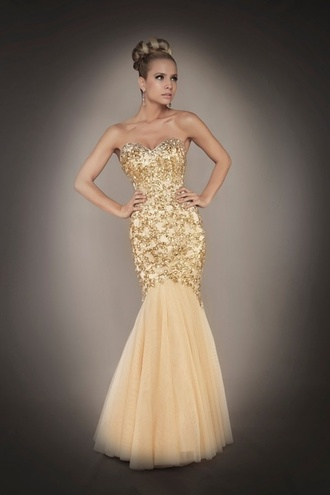 dress prom dress google gold mermaid sequin sweetheart neckline