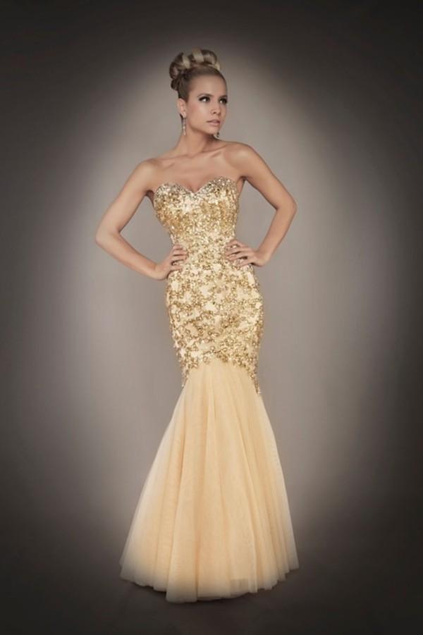 dress, prom dress, google, gold, mermaid, sequins ...
