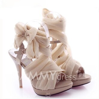 shoes nude beige fashion style footwear classy elegant party spring summer bow rose wholesale-jan high heel sandals gamiss