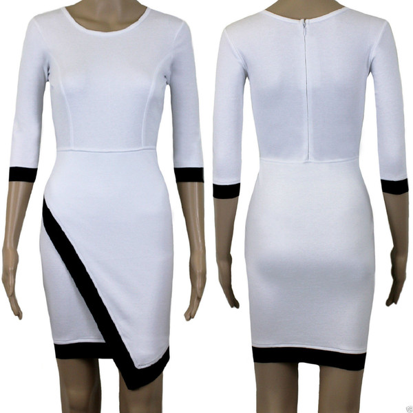 Celia asymmetric bodycon dress