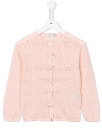 cardigan girl purple pink sweater