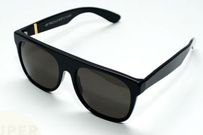 Super Sunglasses Flat Top Black 036 Top Black 036 Sunglasses