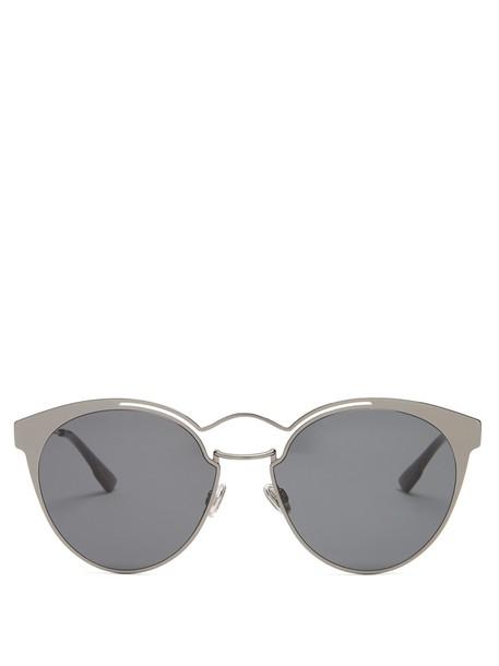 dior metal sunglasses grey