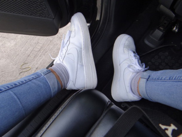 shoes nike nike air force white sneakers style
