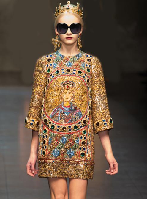 Retro Print Dress$99