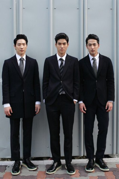shoes suit tie korean fashion japanese chinese cool asian taiwanese menswear mens suit formal