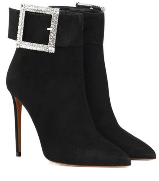 Alexandre Vauthier Yasmin suede ankle boots in black