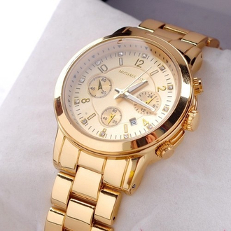 gold jewels watch