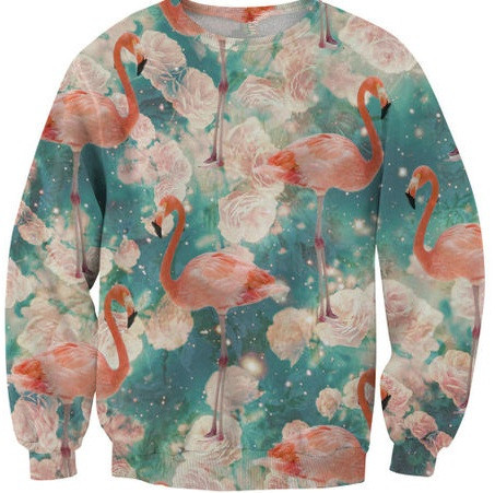 Flamingo print sexy sweater – glamzelle