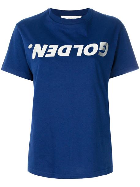 GOLDEN GOOSE DELUXE BRAND t-shirt shirt t-shirt women cotton print blue top