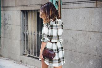 checkered blouse mini