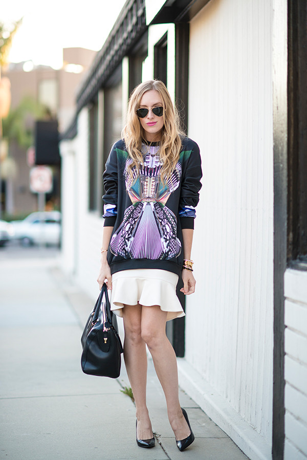 eat sleep wear sweater skirt shoes bag jewels