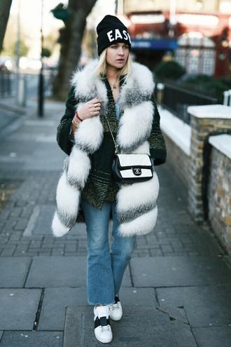 en vogue coop blogger coat jacket jeans shoes bag hat