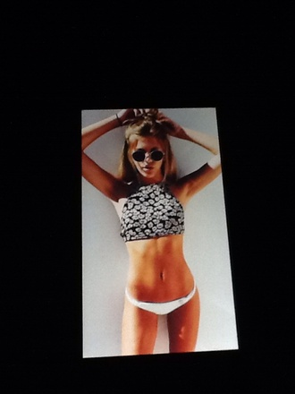 swimwear flowers hippie top parnevik tank top swimtop bikini black crop top black bikini white crop tops white bikini yellow swimwear