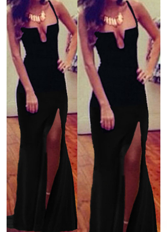 dress slit tight sexy black dress unomatch unomatch shop unomatch barnd unomatch dresses shop style: uwd084