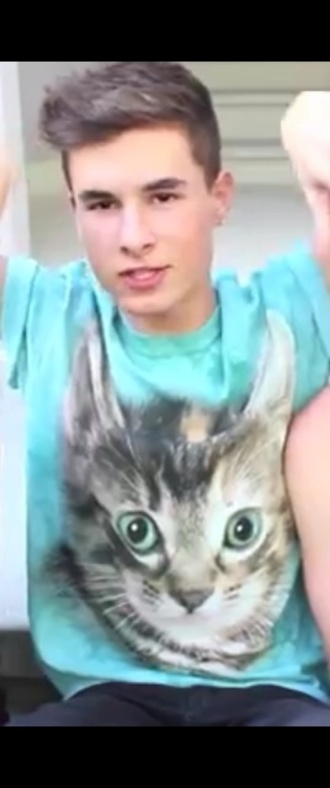 shirt teal cats o2l our second life