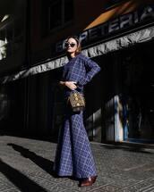 dress,maxi dress,checkered,ankle boots,handbag,snake print,sunglasses