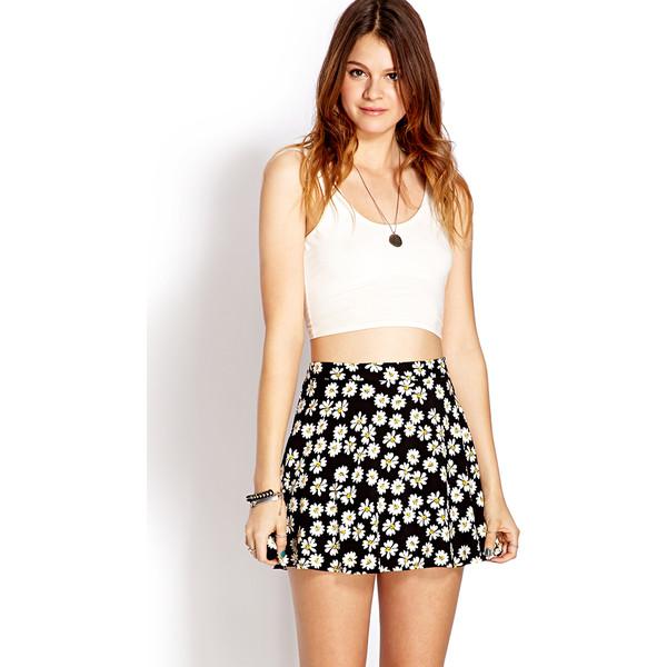 FOREVER 21 Daisy Doll Skater Skirt
