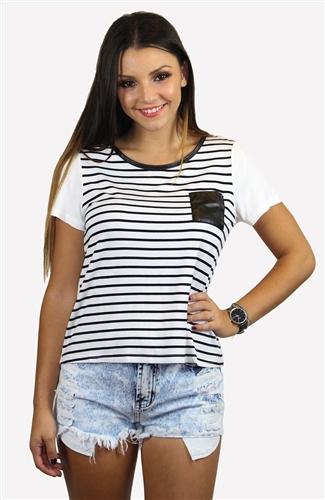 Stripe out top white