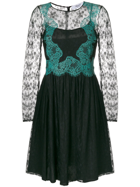 dress lace dress women layered lace floral black