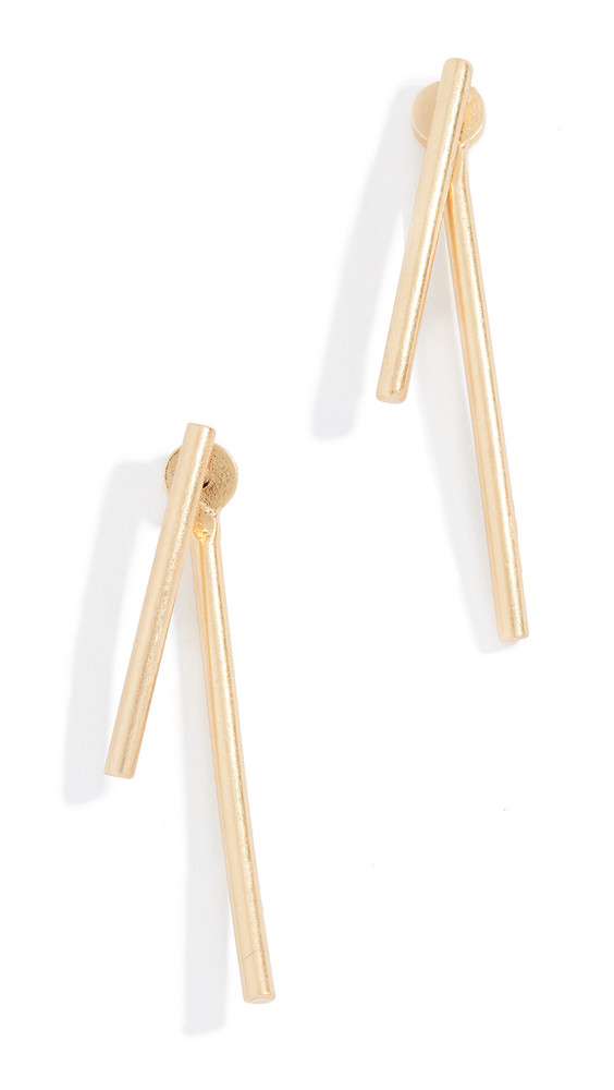 Madewell Stembend Earrings in gold