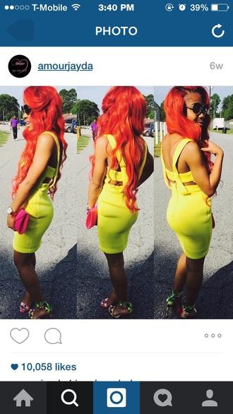 dress yellow dress red dress swag fashion dope