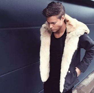 coat menswear jacket fur winter jacket