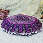 home accessory,tapestry round pillow,multimatecollection,round pillow,indian round pillow,cheap pillow,mandala pillowcase