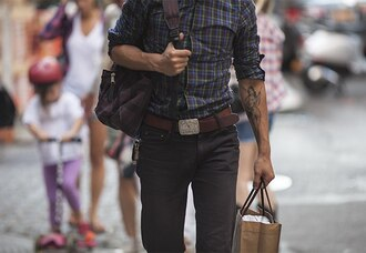hipster menswear menswear flannel shirt tattoo shirt