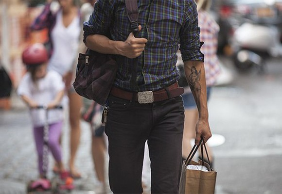hipster menswear menswear flannel shirt tattoo